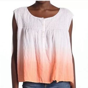 Free People Little Bit of Something Ombre Blouse